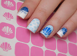 Nail Decorations Seashell Nail Stencils Seashell Nail Vinyls Sea Nail Decorations