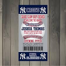 new york yankees baseball themed baby shower invitation 15 00