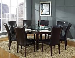 Solid Wood Dining Room Sets Chair Impressive Round Dining Room Table For 6 Minimalist Tables
