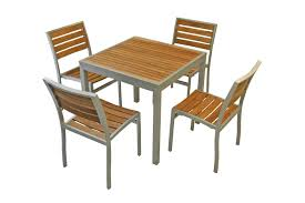 Patio Table And Chairs Set Commercial Aluminum Outdoor Restaurant Chairs Cedar Key Series