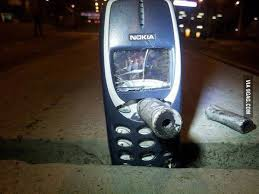 Nokia 3310 Meme - the nokia 3310 meme comes out to be true tear gas bullet in