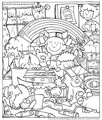 noah and the ark coloring page children playing noah print