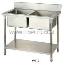 Free Standing Sink Kitchen Commercial Different Types Prices Stainless Steel Kitchen Sink