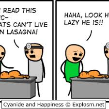 I Like Food And Sleep Meme - cats like to sleep a lot after eating lasagna comic by cyanide and