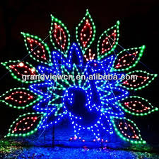 led peacock zoo lights for illumination and decorations