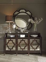 wellshire mirrored buffet with felt lined silverware storage drawers