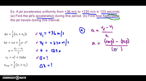 uniformly accelerated motion 2 2 problem solving exle