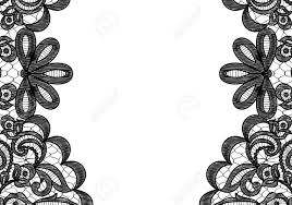Borders For Invitation Cards Free Wedding Invitation Or Greeting Card With Black Lace Borders On