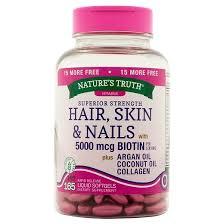 nature u0027s truth hair skin u0026 nails 5000mcg liquid softgels 165