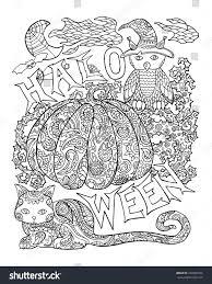 halloween coloring page pumpkin halloween vector stock vector