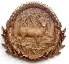 wood carving images deer plaque 16x16 unique wood carving tenott designs