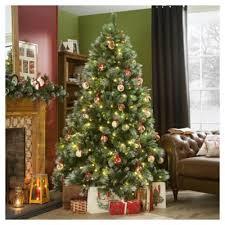 buy 7ft pre lit tree new forest pine 350 white led s