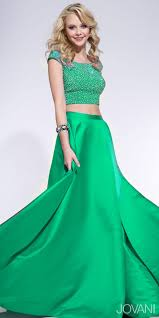 embellished two piece ballgown prom dress by jovani