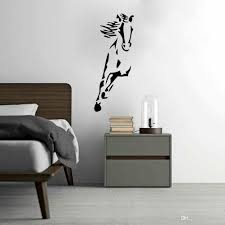 running horse art vinyl wall sticker animal creative wall