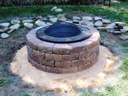 Outdoor Firepit Kit Wood Burning Pit Kits How To Build A With Pavers Pavestone