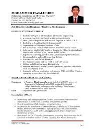 Site Civil Engineer Resume B Tech Electrical Engineer Cv