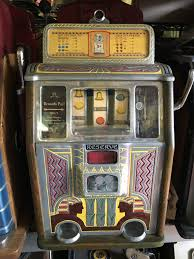 caille bros silent sphinx reserve jackpot slot machine c1932