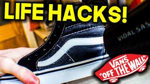 vans sk8 hi life hacks i tips tricks youtube