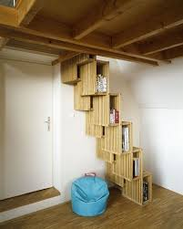 Alternate Tread Stairs Design Czech Out Another Alternating Tread Bookcase Stair Staircases