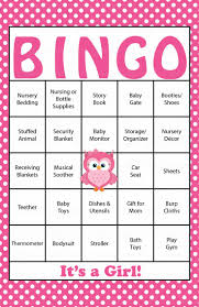 9 best baby shower bingo images on pinterest baby shower bingo