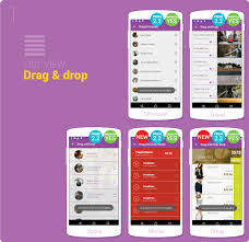 layout template listview drag drop list view transitions pinterest material design