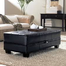 Leather Storage Ottoman Elegant Oversized Storage Ottoman With Furniture Leather Storage