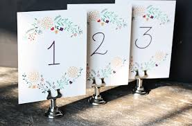 wedding table numbers free downloadable garden wedding table numbers cu