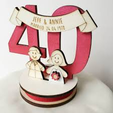 anniversary cake toppers personalised 40th anniversary cake topper by just toppers