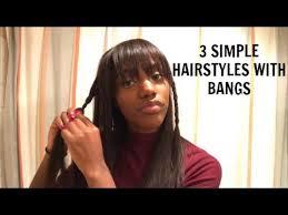 3 simple cute hairstyles w bangs youtube