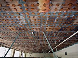 Ceiling Tile Adhesive by Exposed Ceiling Tile Glue Daubs The Entire 1 U0027x1 U0027 Ceiling T U2026 Flickr