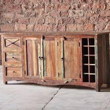 sideboard cabinet with wine storage riya reclaimed wood sideboard cabinet and wine rack