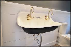 Silver And Gold Bathroom Faucets Charming Design Ideas Using Round Brown Hanging Lamps And
