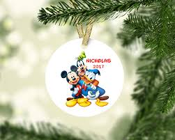 mickey mouse ornament disney ornament goofy