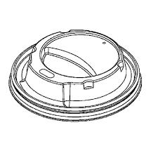 white domed lid for bender cup 12oz 1000 bendlid12 21 10