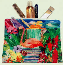 flamingo cosmetic bags add flamingo glamour to make up essentials