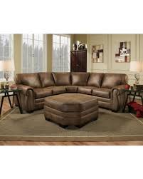 Ottoman Faux Leather Bed Deal On Simmons Upholstery Shiloh Faux Leather Sectional With