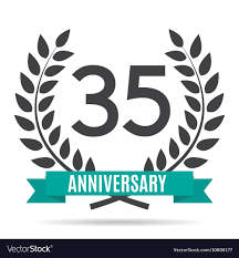 35 year anniversary template logo 35 years anniversary royalty free vector image