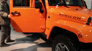 jeep wrangler orange 2014 jeep wrangler rubicon in 2013 washington dc auto show youtube