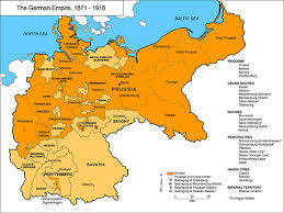 map germany and the german empire 1871 1918 germany empire