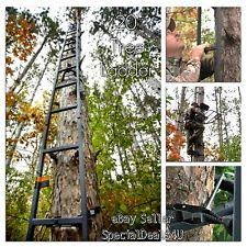 ladder tree stand swivel seat rifle bow deer camo sniper