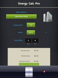 energy calc pro appliance energy cost calculator on the app store