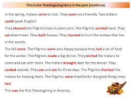 thanksgiving story it is 1620 some in do not like