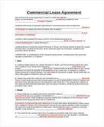 9 business lease agreement sample free sample example format