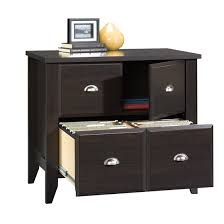 Wood Lateral File Cabinet Sauder Shoal Creek Jamocha Wood Lateral File Cabinet 408924