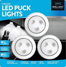 battery powered puck lights amazon com brilliant evolution brrc133 wireless led puck light 3
