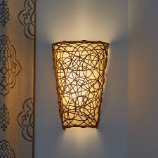 battery operated wall sconce wicker style