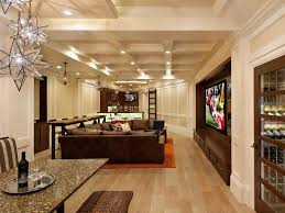 Ideas For Basement Finishing Catch The Game At Home Man Caves For Sports Fans Hgtv
