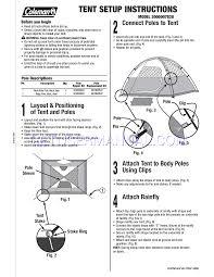 Coleman Tent 2000007828 User U0027s Manual Download Free