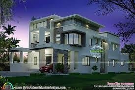flat roof contemporary night view kerala home design bloglovin u0027
