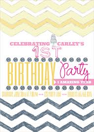 pink and yellow vintage birthday invitations
